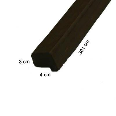 Remate en angulo de poliuretano para paneles imitacion madera