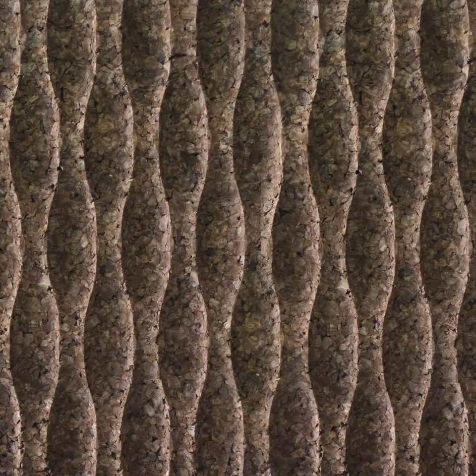 Corcho negro decorativo Wave S1